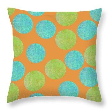 Malaysian Batik Polka Dot Print Throw Pillow