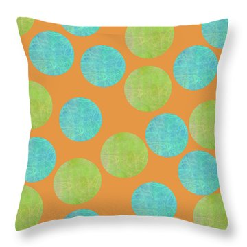 Malaysian Batik Polka Dot Print Throw Pillow