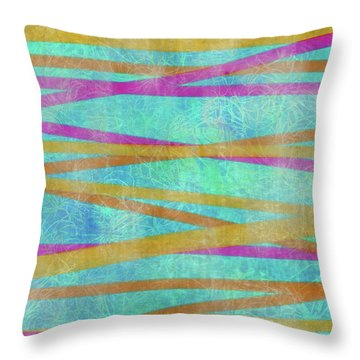 Malaysian Tropical Batik Strip Print Throw Pillow
