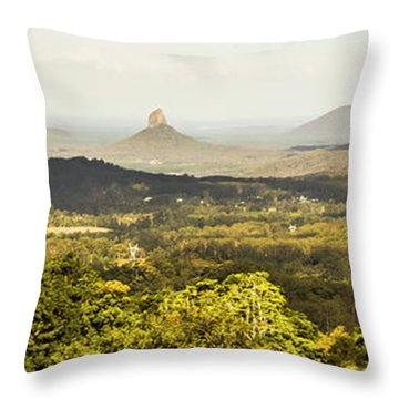 Maleny To The Glass House Mountains Throw Pillow