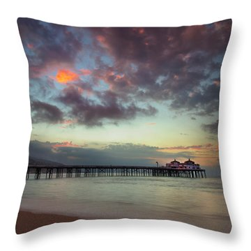 Malibu Pier IIi Throw Pillow