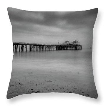 Malibu Pier Throw Pillow