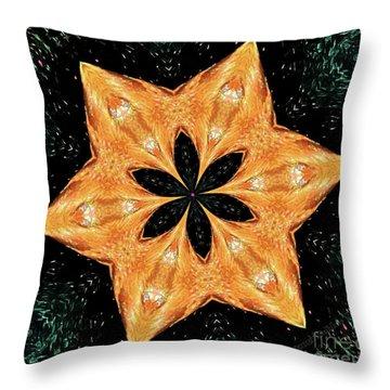 Mallard Head Mandala Throw Pillow