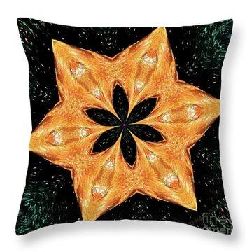 Throw Pillow featuring the photograph Mallard Head Mandala by Debbie Stahre