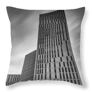 Malmo Live Building Blocks Black And White Throw Pillow