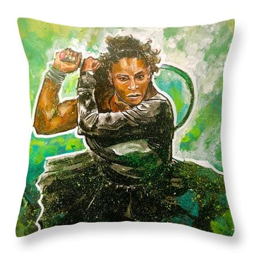 Mama Said Knock You Out Throw Pillow