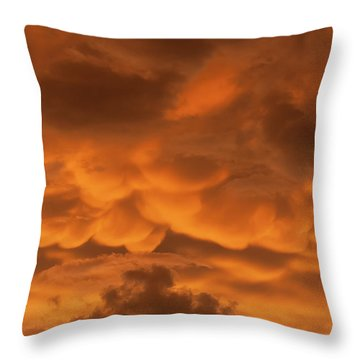 Mammatus Clouds Throw Pillow