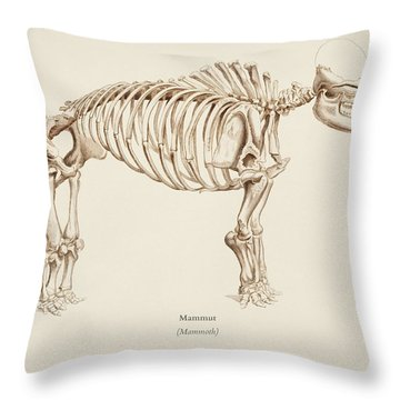 Mamoth  Mammut  Illustrated By Charles Dessalines D' Orbigny  1806-1876  Throw Pillow