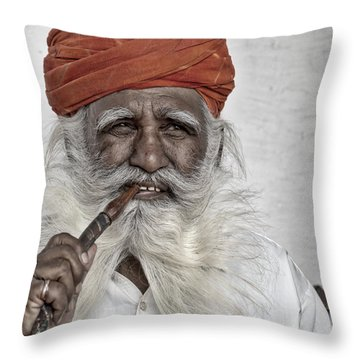 Man Of Wisdom Throw Pillow