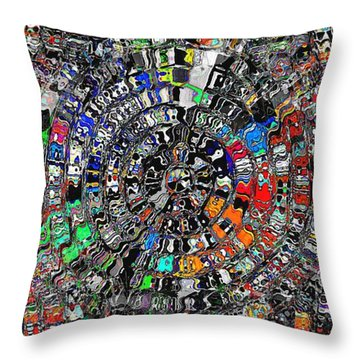 Mandala Grafundi Throw Pillow