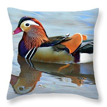 Mandarin Duck Central Park 1 Throw Pillow