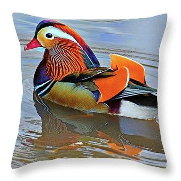Mandarin Duck Central Park-12 Throw Pillow