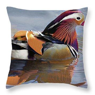 Mandarin Duck Central Park 4 Throw Pillow