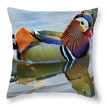 Mandarin Duck Central Park 5 Throw Pillow