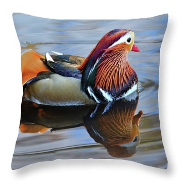 Mandarin Duck Central Park 6 Throw Pillow