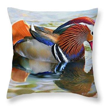 Mandarin Duck-central Park 10 Throw Pillow