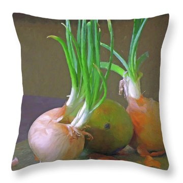 Throw Pillow featuring the mixed media Mango At Rest  by Lynda Lehmann