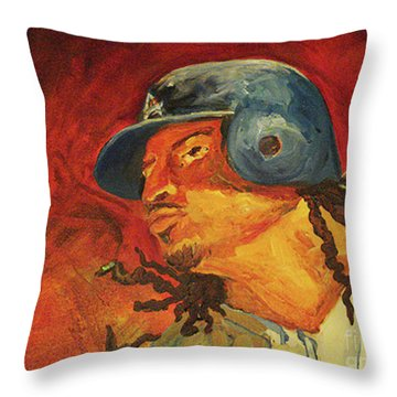 Manny Ramirez Throw Pillow