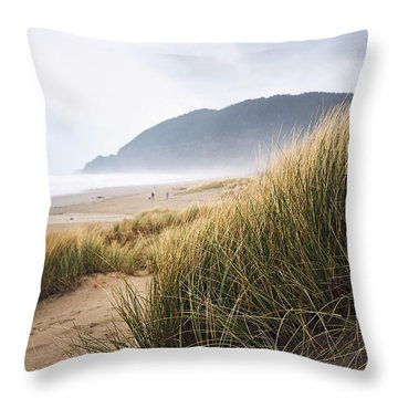 Throw Pillow featuring the photograph Manzanita Beach by Whitney Goodey