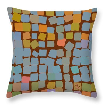 Throw Pillow featuring the digital art Maple by Attila Meszlenyi