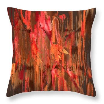 Throw Pillow featuring the digital art Maple Leaf Rag by Gina Harrison