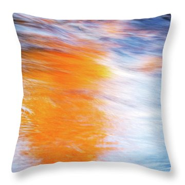 Maple Reflection Fall Throw Pillow