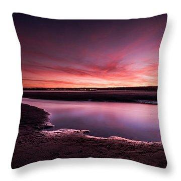 Marazion Sunset Throw Pillow