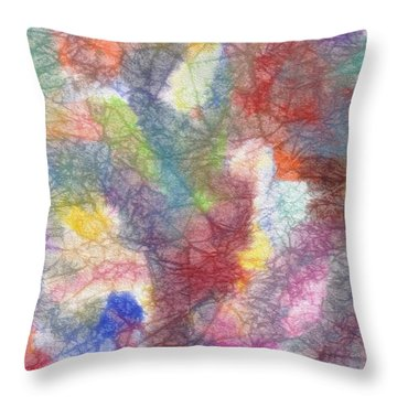 Marble Abstraction Throw Pillow