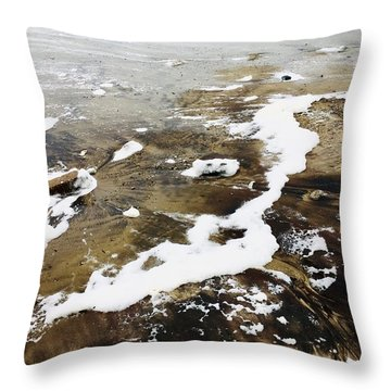 Marbled Sand Throw Pillow