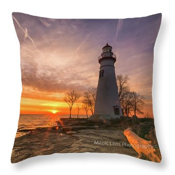 Marblehead Lighthouse Sunrise  Throw Pillow