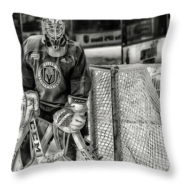 Marc Andre Fleury Vegas Golden Knights Throw Pillow
