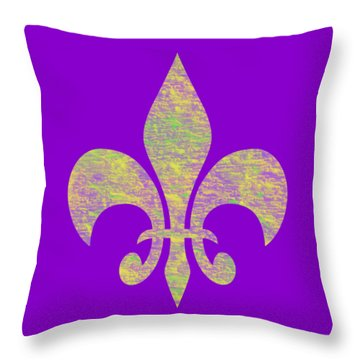 Mardi Gras Party Fleur De Lis Throw Pillow