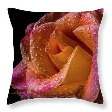 Mardi Gras Sprinkled Beauty Throw Pillow