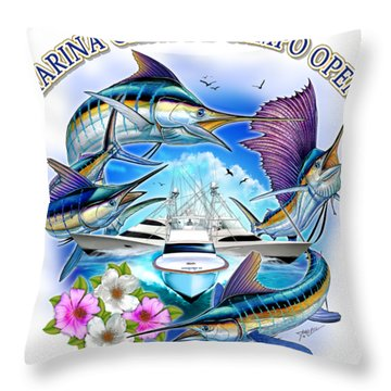 Marina Casa De Campo Open Art Throw Pillow