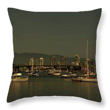 Marina Golden Hours Throw Pillow