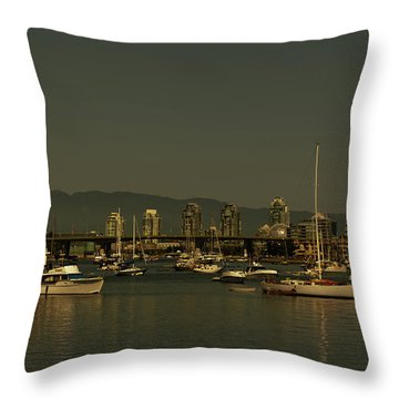 Marina Golden Hours Throw Pillow