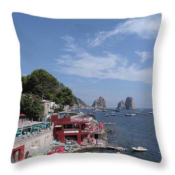 Marina Piccola Beach Throw Pillow