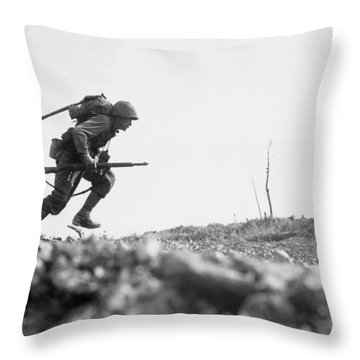 Marine Dash On Okinawa Throw Pillow