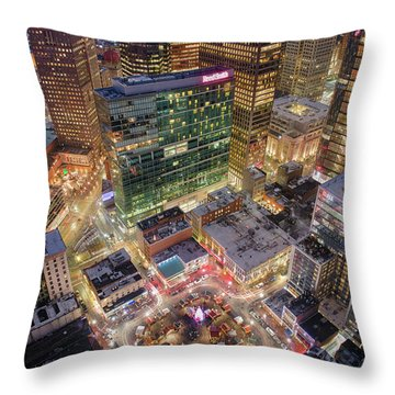 Market Square From Above  Throw Pillow