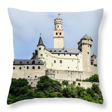 Marksburg Castle Throw Pillow