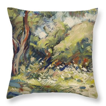 Marmari Olive Orchard Paxos Throw Pillow