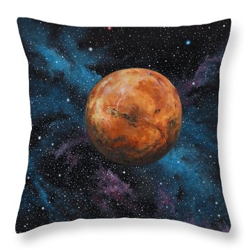 Mars And Stars Throw Pillow
