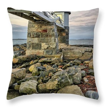 Marshall Point Light From The Rocks Throw Pillow