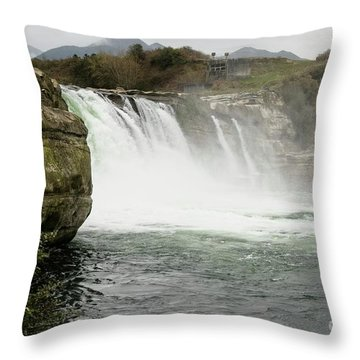 Maruia Falls Throw Pillow