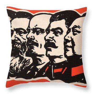 Marx Engels Lenin Stalin And Mao Throw Pillow