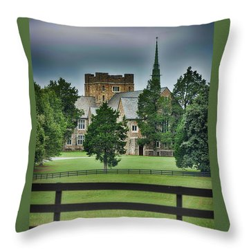 Mary Hall, Berry College Throw Pillow