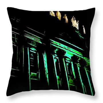Mary, Queen Of The World Cathedral Abstract Throw Pillow