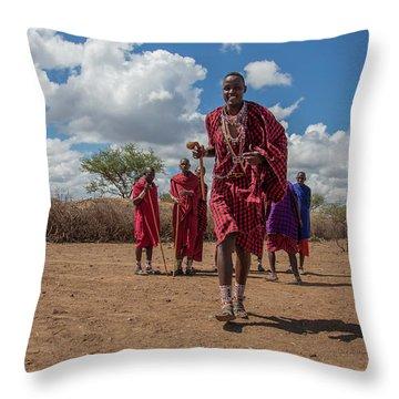 Maasai Welcome Throw Pillow