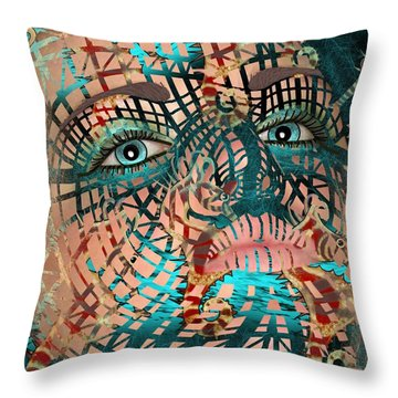 Mask Dreaming Of The Sea Throw Pillow