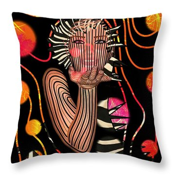 Mask Of The Sea Throw Pillow